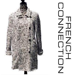 French Connection multicolor threaded tweed coat